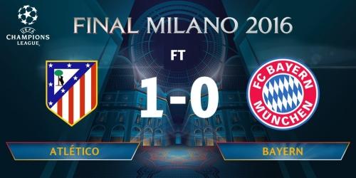 (VIDEO) Champions League, el Atlético derrotó al Bayern en la semifinal de ida