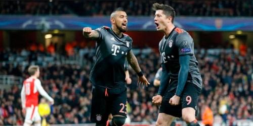 (VIDEO) Champions League, el Bayern volvió a golear al Arsenal y se metió en Cuartos de Final