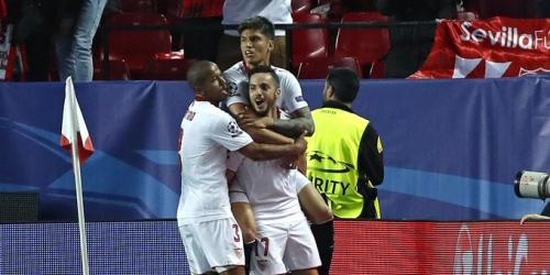 (VIDEO) Champions League, el Sevilla superó al Leicester por 2-1 en el partido de ida