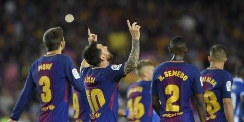 (VIDEO) Con 3 goles de Messi, el Barcelona golea en el derbi catalán