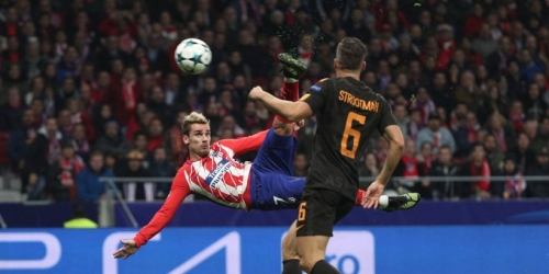 (VIDEO) El Atlético de Madrid venció a la Roma y se jugará el pase a octavos frente al Chelsea