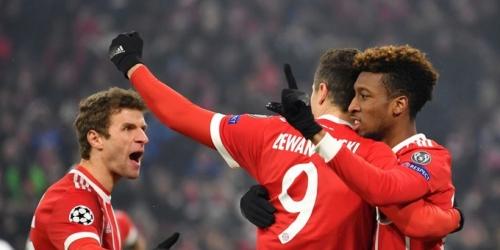 (VIDEO) El Bayern Munich goleó al Besiktas por la ida de los Octavos de Final de la Champions