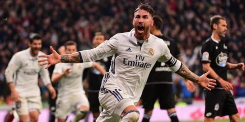 (VIDEO) España, el Real Madrid superó al Deportivo con agónico gol de Ramos