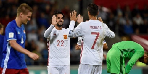 (VIDEO) España golea a Liechtenstein