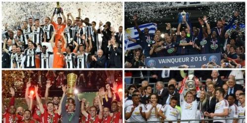 (VIDEO) Europa, victorias de Bayern, PSG, Juve y United en sus finales de Copa Nacional