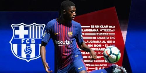 (Video) FC Barcelona, Ousmane Dembélé presentado entre la risa y el aplauso blaugrana