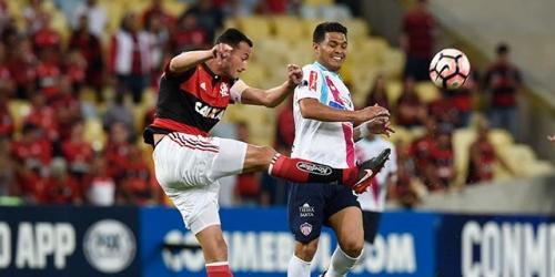 (VIDEO) Flamengo le ganó a Junior en la primera Semifinal de la Copa Sudamericana