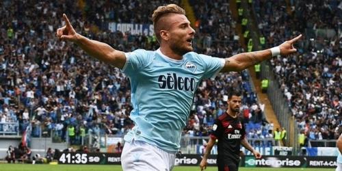 (VIDEO) La Lazio goleó al Milan en el Olímpico de Roma