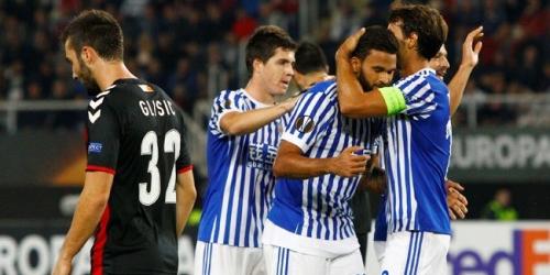 (VIDEO) Real Sociedad doblegó al Vardar por Europa League