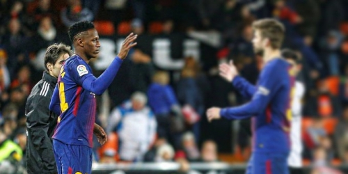 Yerry Mina debutó con el FC Barcelona