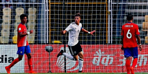 Alemania venció a Costa Rica en el Mundial Sub 17