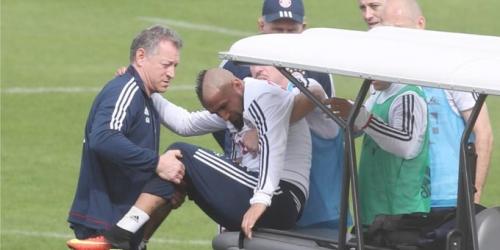 Arturo Vidal abandonó el entrenamiento lesionado
