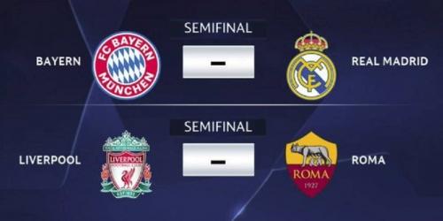 Así quedaron las llaves de semifinales en la UEFA Champions League