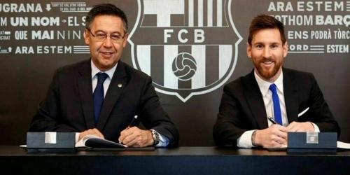 "Bartomeu: ""Creo que Messi seguirá mas allá del 2021"""