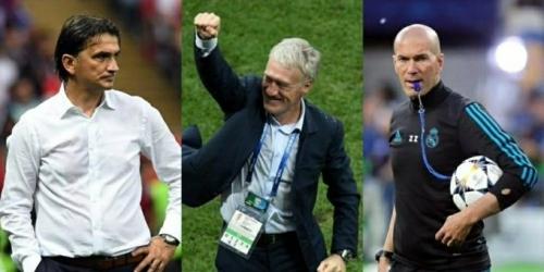 Deschamps, Dalic y Zidane a mejor entrenador en los premios The Best