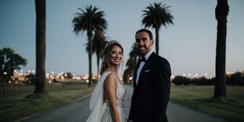 Diego Godín se casó con honores