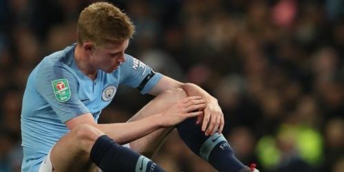 El City confirma una nueva lesión de De Bruyne