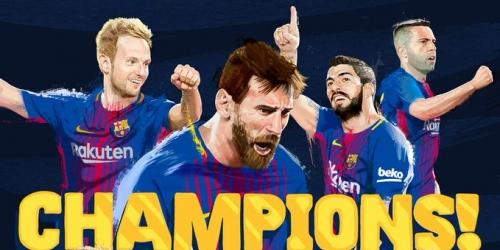 ¡FC Barcelona Campeón de la Liga Española!