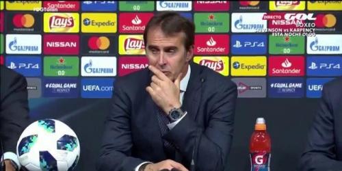 Lopetegui manifestó que el Real Madrid no tiene la necesidad de adquirir nuevos refuerzos