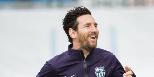Messi ya se entrena en el césped