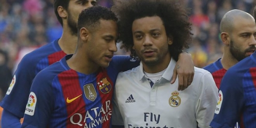"""Marcelo: """"Neymar jugará algún día en el Madrid"""""""