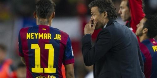 """Neymar: """"Presidente, fiche a Luis Enrique, es el mejor"""""""