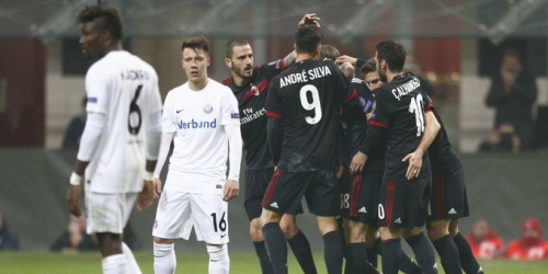 (OFICIAL) El Milan goleó al Austria Viena en la Europa League