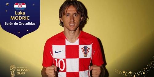(OFICIAL) Modric se lleva el Balón de Oro del Mundial de Rusia