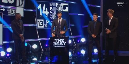 (OFICIAL) Thibaut Courtois ganador del premio The Best a mejor arquero