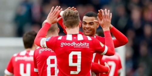 PSV no cede liderato y golea al Fortuna Sittard