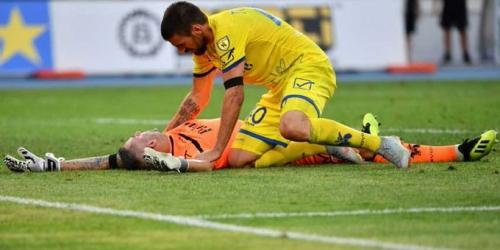 Sorrentino fuera de acción tras choque con Cristiano Ronaldo