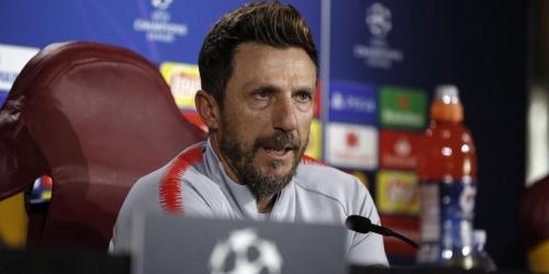Técnico de la Roma preparado para su enfrentamiento contra el Real Madrid