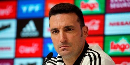 Tres bajas en el seleccionado argentino del DT Scaloni