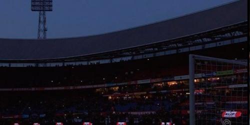 Un apagón ocasionó que se suspendiera partido entre el Feyenoord y el Venlo
