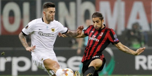 (VIDEO) AC Milán empató ante AEK Atenas por Europa League