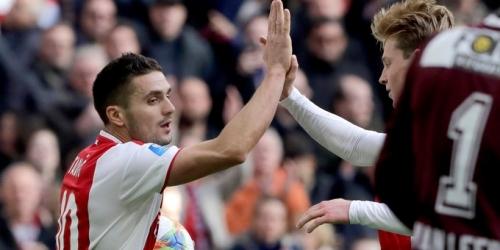 (VIDEO) Ajax goleó al NAC Breda y sigue de cerca al puntero