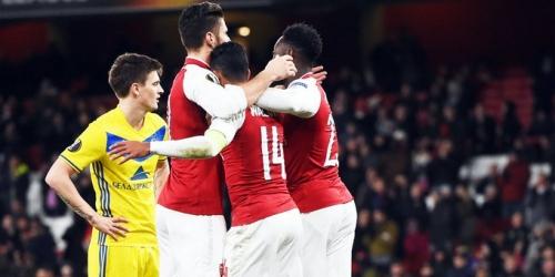 (VIDEO) Arsenal goleó al BATE Borisov por 6-0