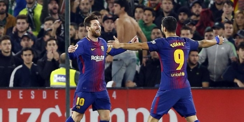 (VIDEO) Barcelona goleó de visitante al Real Betis