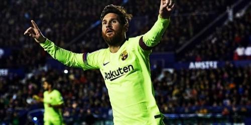 (VIDEO) Con triplete de Messi, el Barcelona arrolló al Levante y mantuvo el liderazgo en La Liga