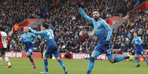 (VIDEO) El Arsenal rescata un empate frente al Southampton de visita