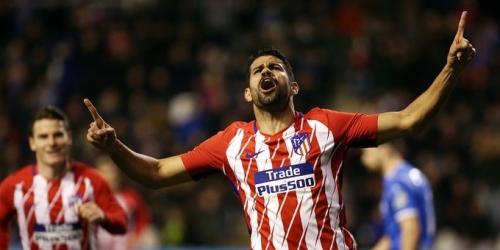 (VIDEO) El Atlético de Madrid venció al Lleida en el regreso de Diego Costa