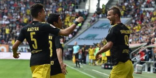 (VIDEO) El Borussia Dortmund venció al Augsburgo y se afianza en el liderato