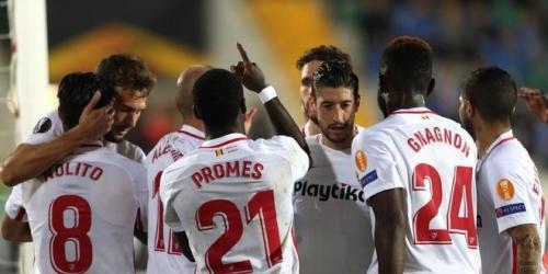 (VIDEO) El Sevilla gana con sufrimiento en la Europa League