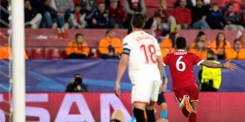 (VIDEO) El Sevilla pierde en casa ante el Bayern Munich por cuartos de final de la Champions League