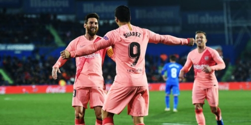 (VIDEO) FC Barcelona se impuso 2 a 1 al Getafe y sigue como líder de la Liga