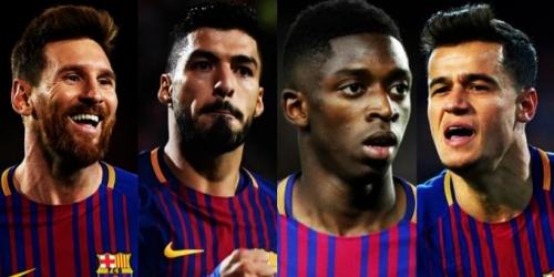"""(VIDEO) Volvieron los """"4 Fantásticos"""" al Barça y realizan nuevo récord tras aplastar al Girona"""
