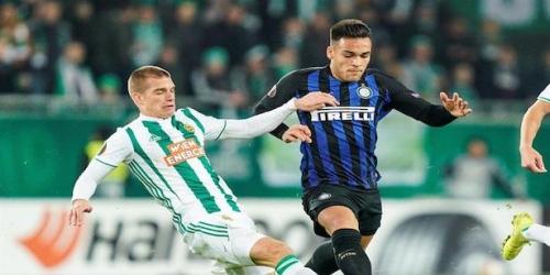 (VIDEO) Inter vence de visita al Rapid Viena por la Europa League