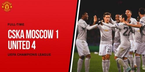 (VIDEO) Manchester United pasa por encima a un tembloroso CSKA Moscú