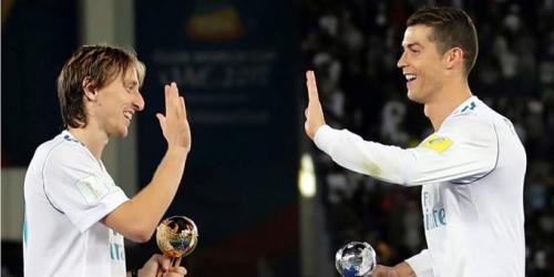 (VIDEO) Modric recibió la felicitación de Ronaldo por ganar el The Best