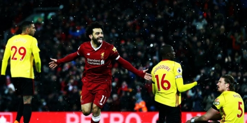 (VIDEO) Salah se luce ante el Watford